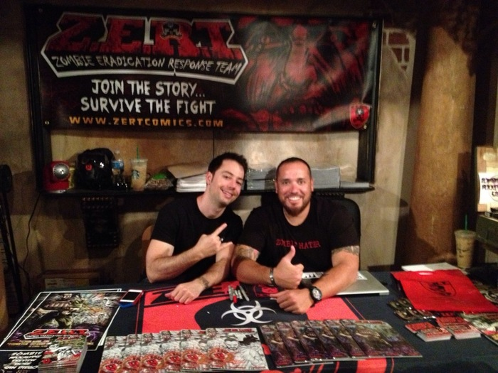 ZERT CEO Aaron promoting the Z.E.R.T Comic Book at ComiCon !
