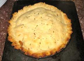 An apple pie I made