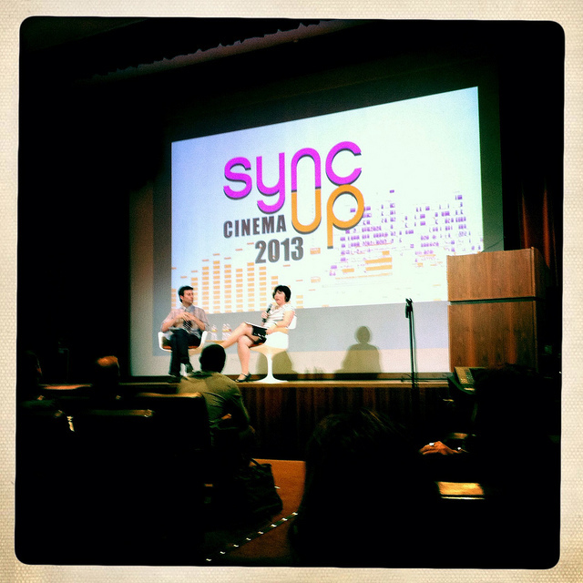 Sheri Candler talks strategy with NOFS' Clint Bowie at Sync Up Cinema