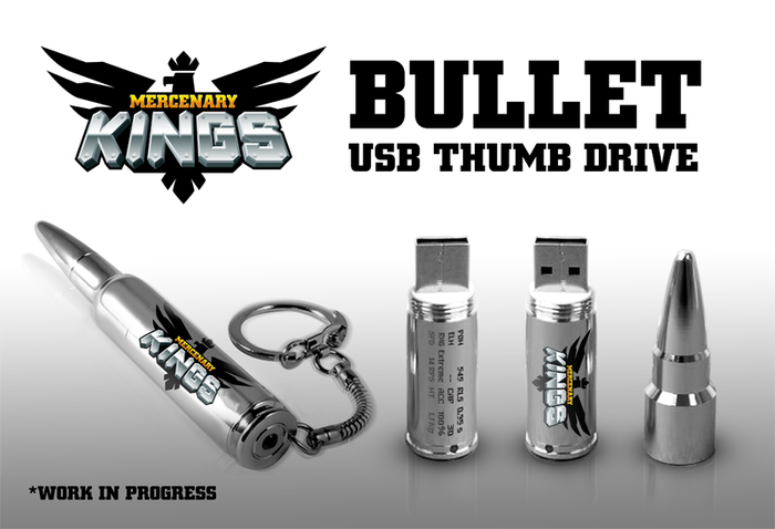 USB Drive features game stats and game logo!