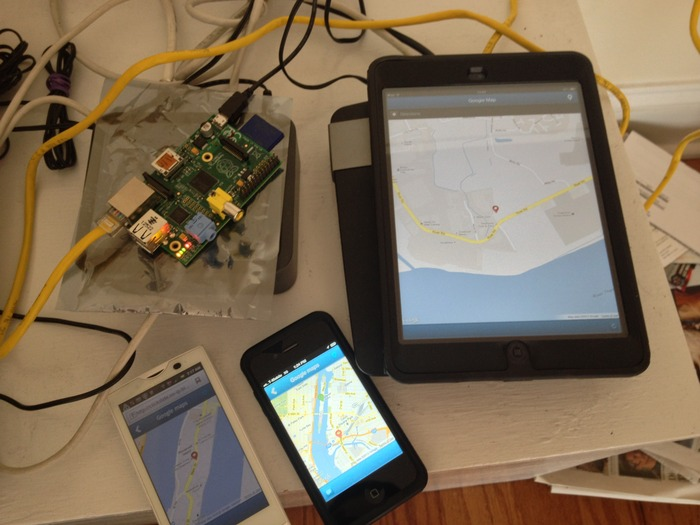 Abacus OS built a maps app from Google's maps API for Android, iPhone and an iPad from a Raspberry Pi device as a Microserver!