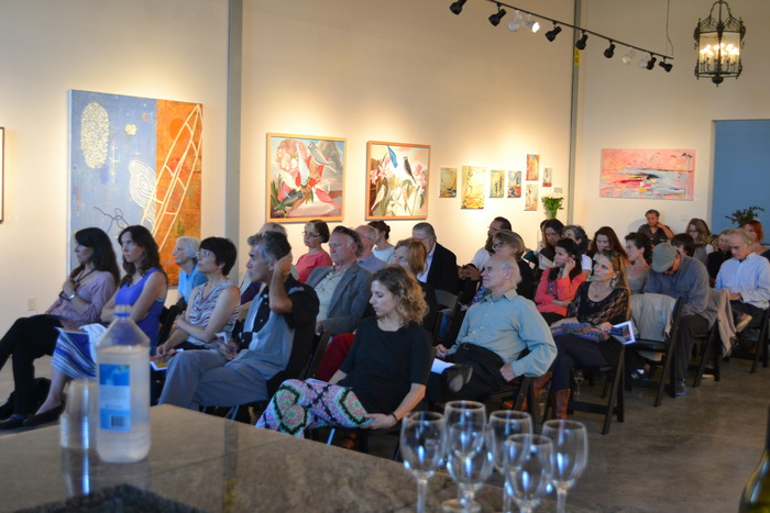 Catamaran art show and reading at the R.Blitzer gallery