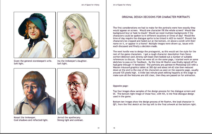 A sample mock-up of a page from the Art Section