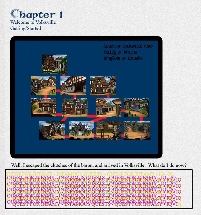 A Sample mock-up of the hint/strategy guide/SUBJECT TO CHANGE