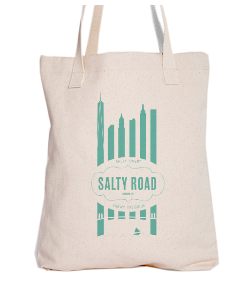 Awesome American Apparel Tote with Salty Road NYC logo!