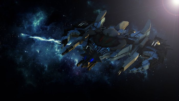 Xenostar - Space ship. Players will be able to customize their ships.
