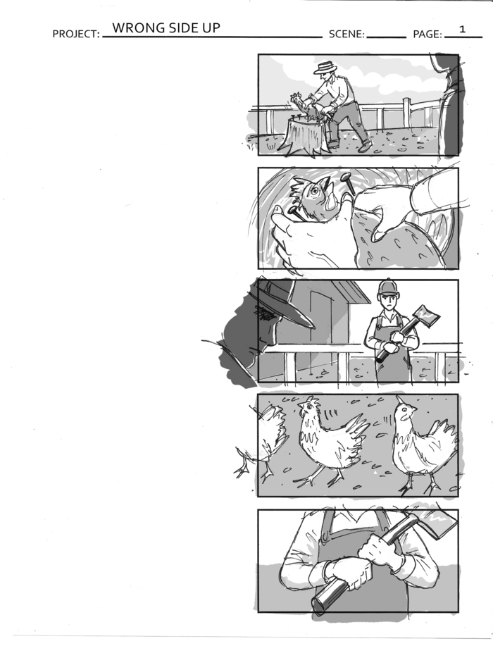 Storyboard Page 1 for Wrong Side Up