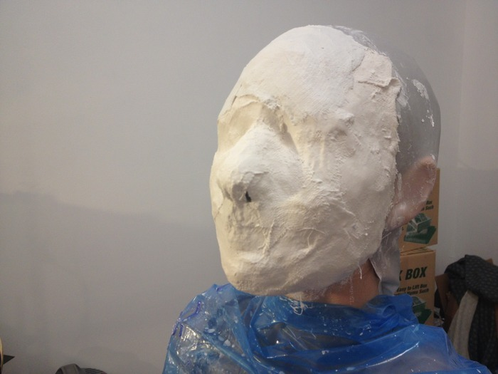 Here I am in the process of the mold making for my mask! (see $500 reward)