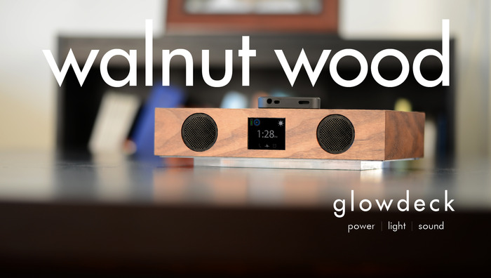 Glowdeck w/ Walnut Wood Finish