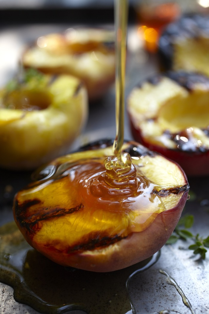 photo by Jennifer Marx - honey thyme grilled peach