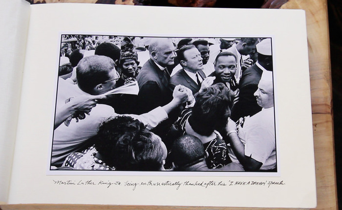 Martin Luther King JR. being enthusiastically thanked after his 'I Have A Dream' speech - 28 August 1963