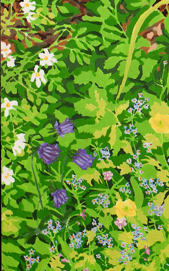 $75.00 & $100.00 Pledges: Oil Nature Study. Size depends on pledge amount. (Example is a foliage study.)