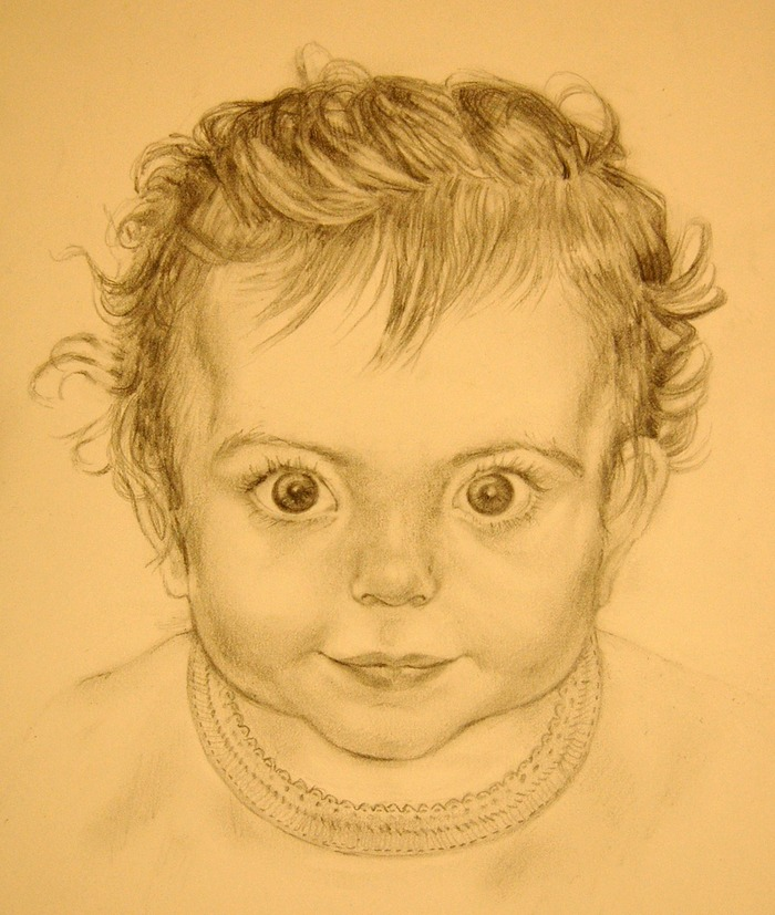 $150.00 Pledge: Personalized Graphite Portrait.