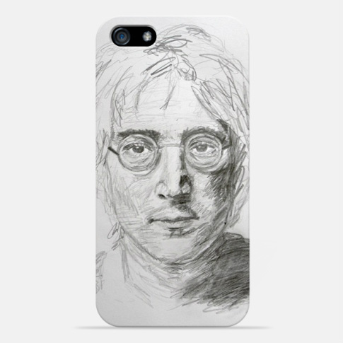 My Drawing of John Lennon on an iPhone5 cover