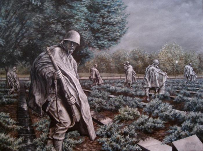 'The Forgotten War' Original Oil Painting