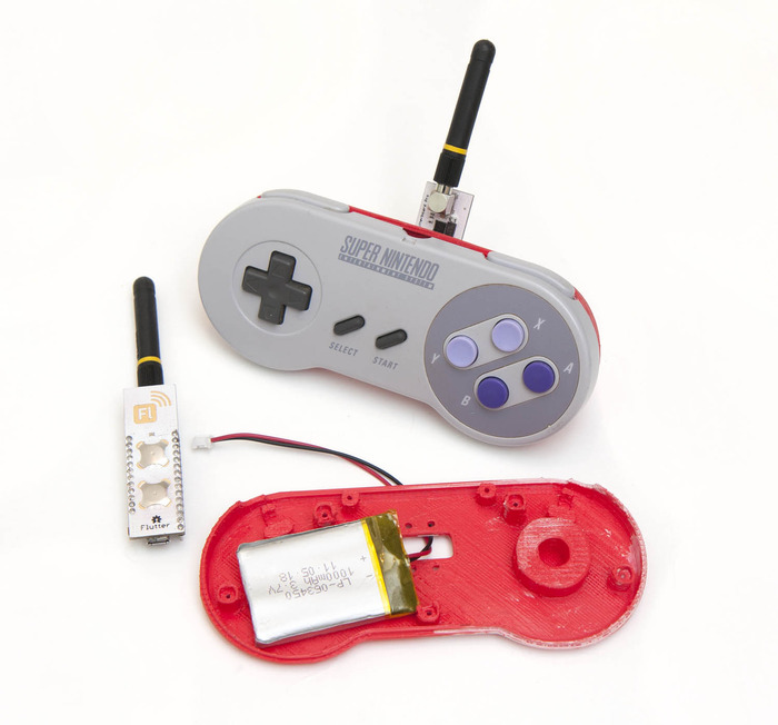 "Our super awesome Nintendo remote. Just 5 wires to solder. Or buy a fully finished one with our ""A Challenger Appears"" reward level!"