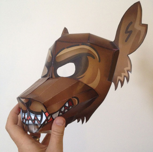 3-D Character Halloween Mask (PDF download)