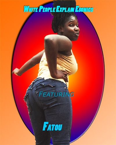 The poster of our fact checker, Fatou, which can be purchased as a reward.