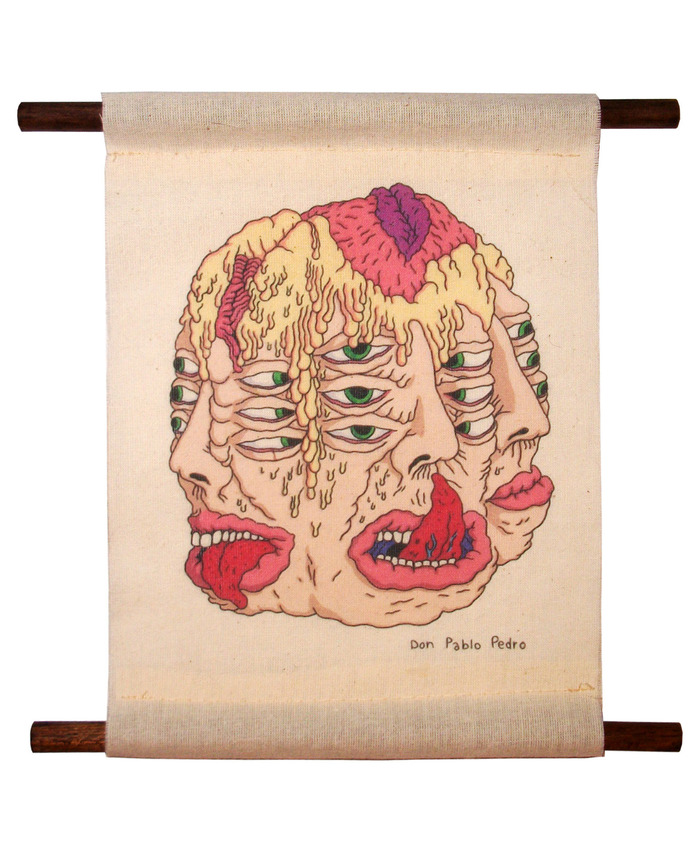 """INFECTIONS"" by Don Pablo Pedro (8""x8"" print on muslin scroll)"