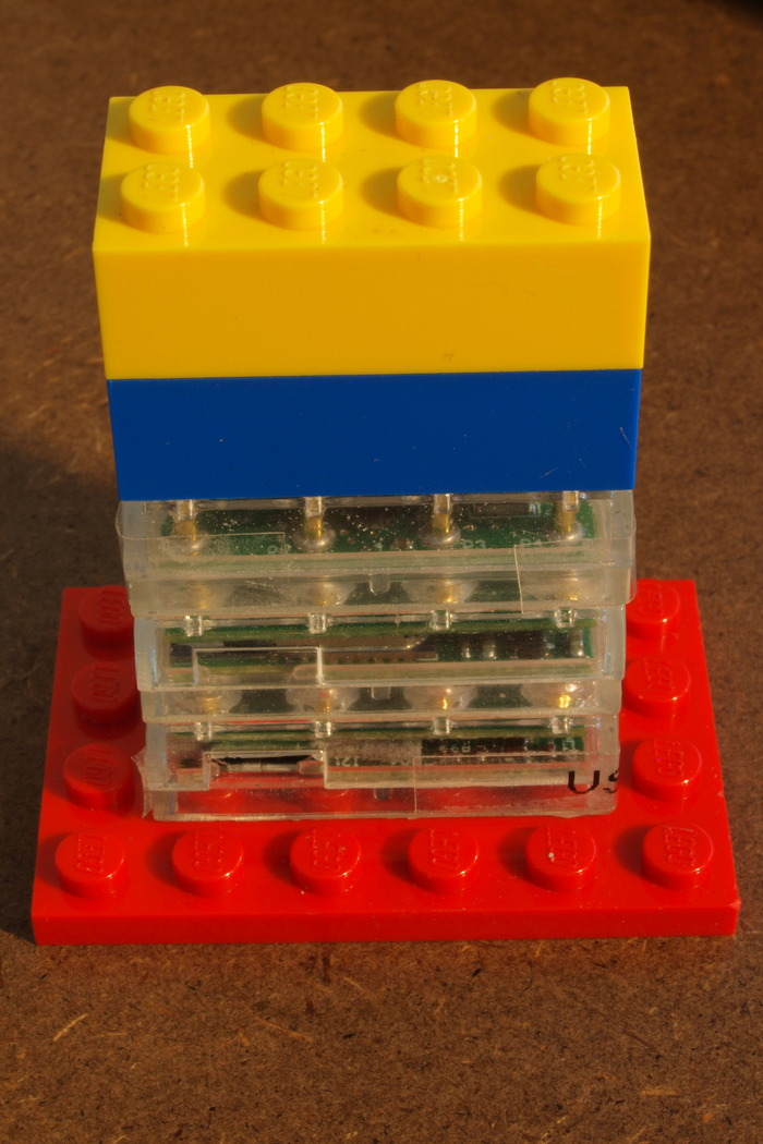 BRYX shown in a Lego stack