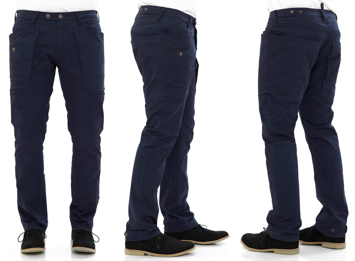 Crank Utility Trouser in Navy Cavalry Twill - Relaxed Straight Cut Fit
