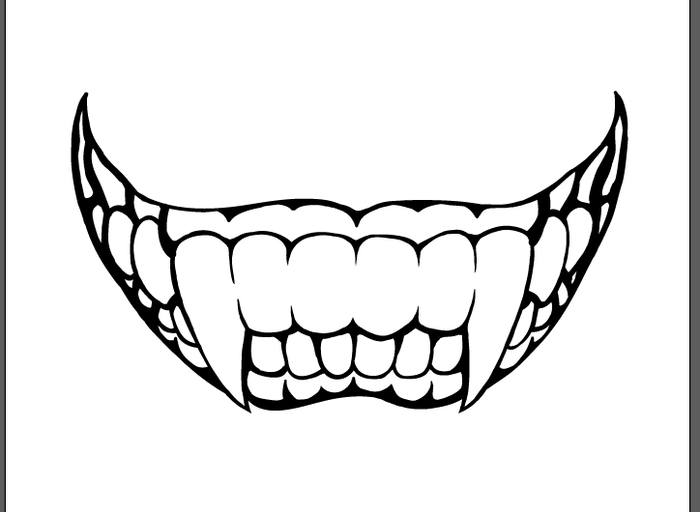 Monster Mouth Drawing Monster Teeth Drawing