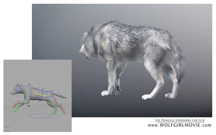 Wolf Girl - 3D wolf research