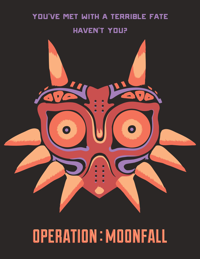 Terrible Fate 8.5 x 11 handbill design.