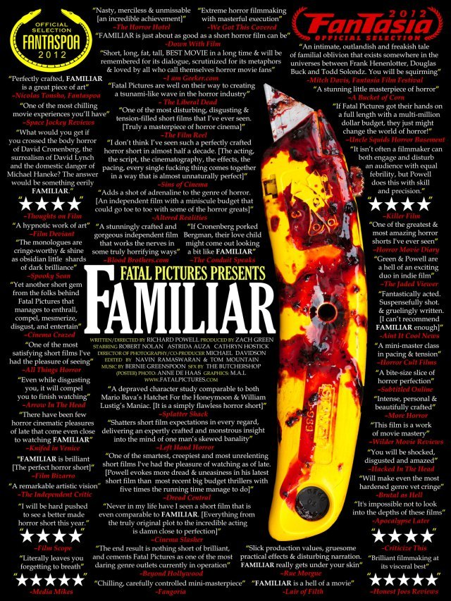 FAMILIAR (2012) Quote Poster