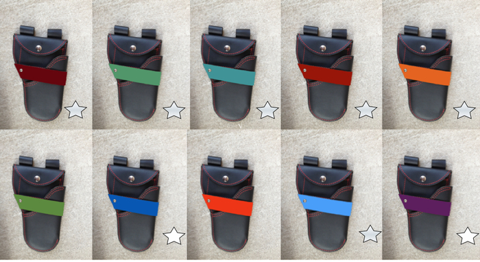 strap color examples against a black body ( star means available)