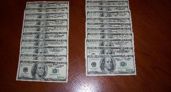 I found this picture online! Too bad it's not my money :(