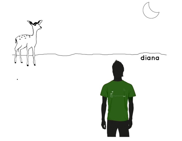 "The ""Diana"" crew t-shirt! You want one! Only $250!"