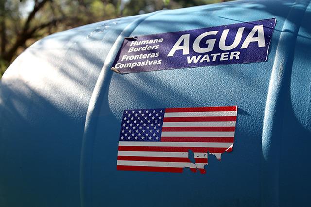 A Humane Borders water tank in Southern Arizona.