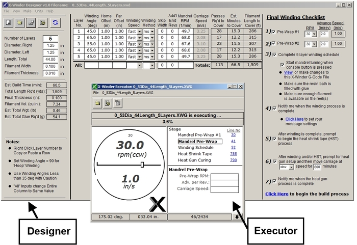 Screenshot of the Designer & Executor Programs