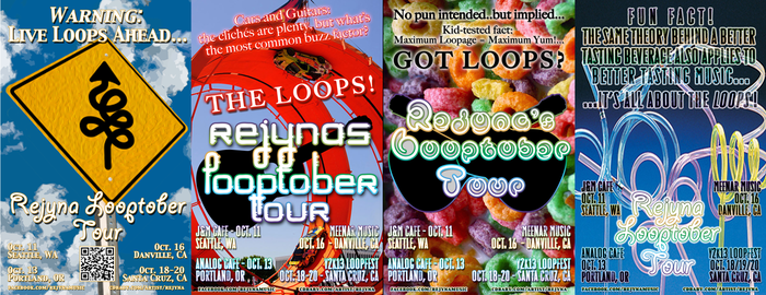 A few of my Looptober Poster and Postcard Designs