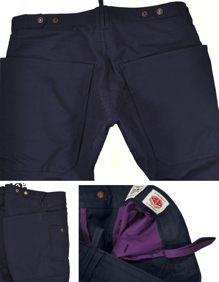 Navy Crank Utility Trouser Details