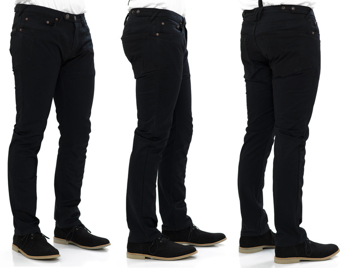 Traffic Jean in Black Cavalry Twill - Slim Cut Fit