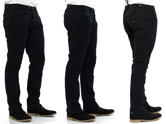 Lane Trouser in Black Cavalry Twill - Relaxed Straight Cut Fit