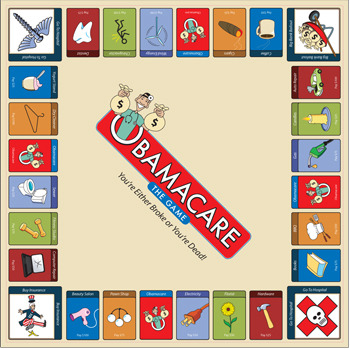 Obamacare The Game Playing Board.