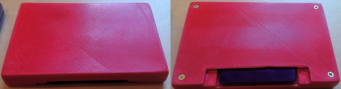 Front & Back of a 3D Printed Control Pak. Not much to look at but functional for a prototype.