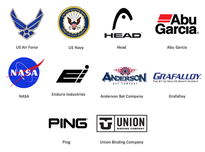 Notable organizations that have utilized the same PowerMetal material found on the COLT!