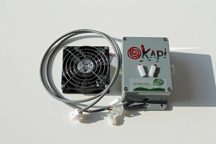 Okapi with variable speed fan and sensors
