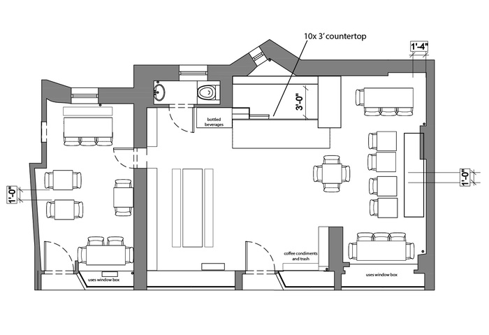 Floorplan of 230 Thompson Street
