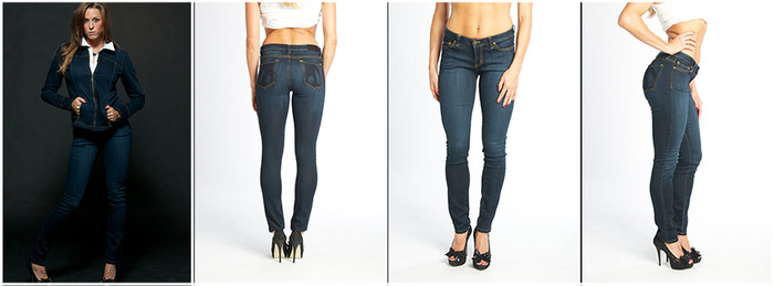 Initial Funding Goal - Dk Wash Stretch Denim Jeans