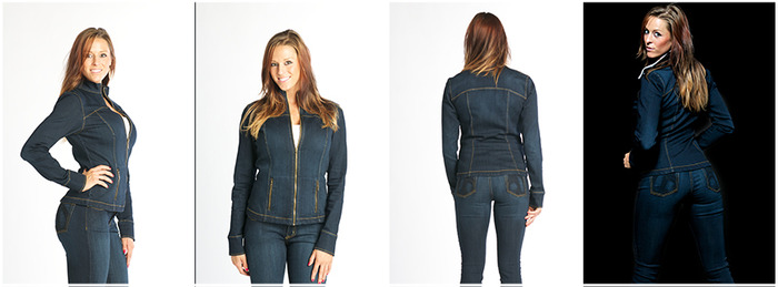 Stretch Goal - Dark Wash Stretch Denim Jacket choice available