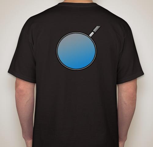 Back Sample of Night Detective Shirt