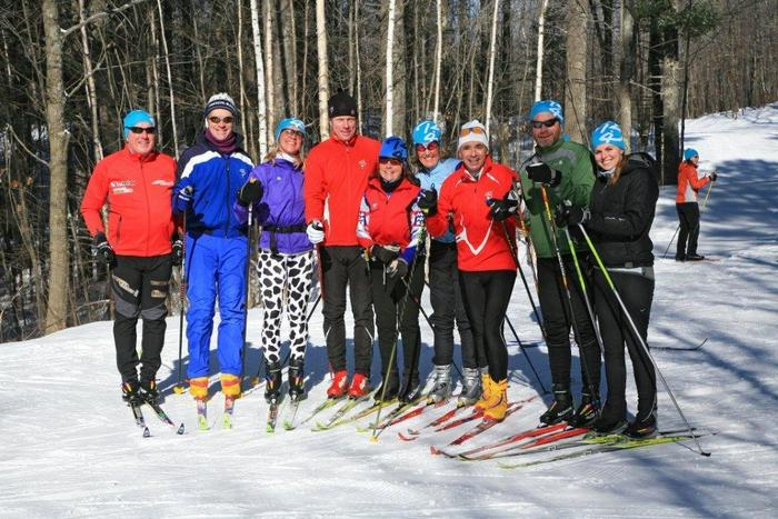 Skiing helps people with MS.  (With Bjorn Daehlie, Katie Brekke and Ian Duncan)