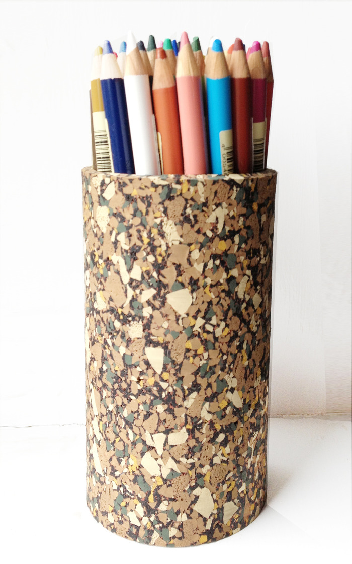 Recycled  Rubber Pencil Pot