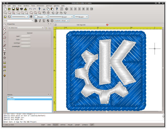 Sample rendering of the KDE project logo. Click here to see more rendering samples on our website.