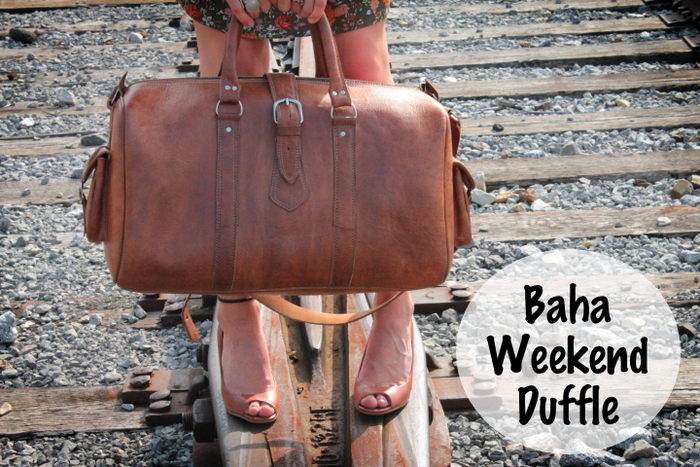 The Baha Weekend Duffle is the leather bag for every adventure but unlike synthetic bags this one will look better as it ages!